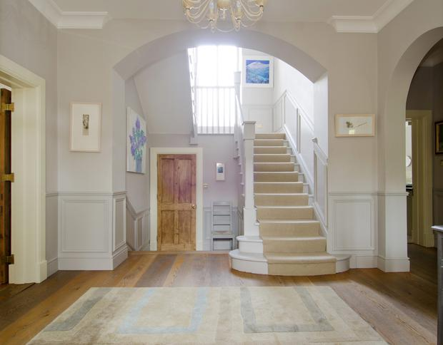 The spacious hallway at 21 Abington, Malahide, Co Dublin