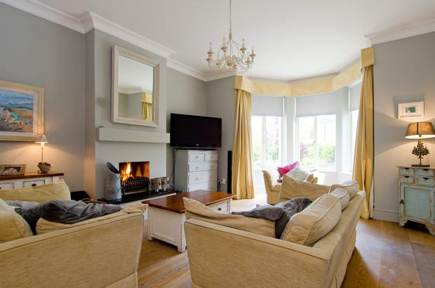 The impressive sitting room at 21 Abington, Malahide, Co Dublin