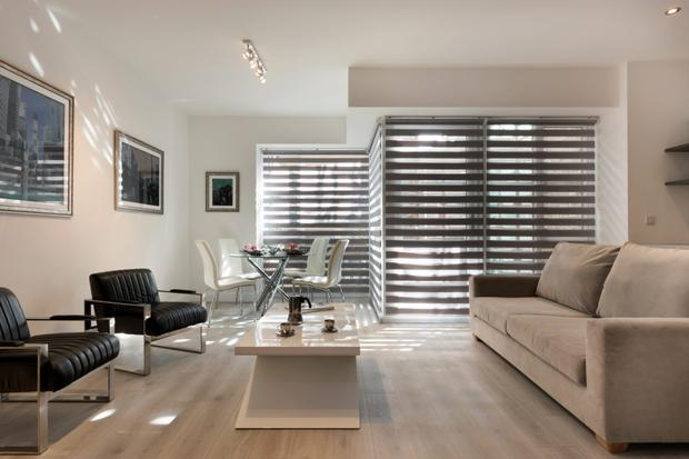The luxury sitting room at Oxmanstown Lofts