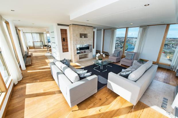 One of the four duplex penthouses with asking prices ranging from €900,000 to €1.45m at Spencer Dock, Dublin 1