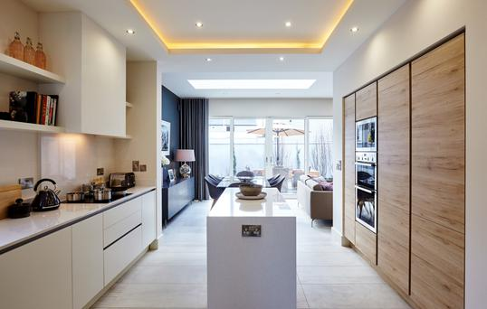 The properties include luxurious kitchens