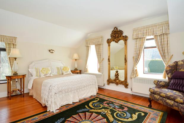 A view of one of the bedrooms in Killeen House