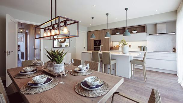 Open plan living with Siemens appliances as standard