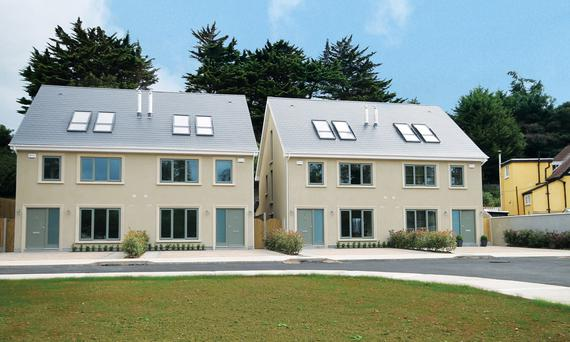 Exterior of the four new homes at Shanganagh Drive