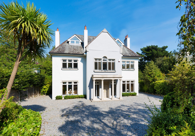 Latona on Torquay Road in Foxrock is set on 0.36 of an acre and has four bedrooms, a drawing room, dining room and a light-filled kitchen as well as a spacious family room that wraps around a raised deck to the rear of the house.