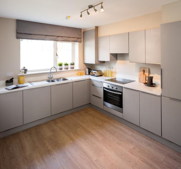 Generous fitted kitchen