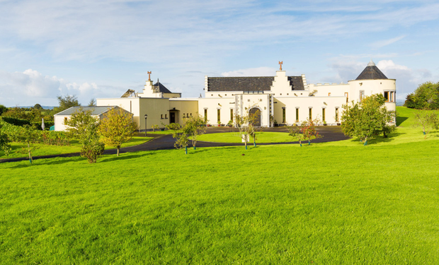 Kells is a modern castle with eco-frills including solar panels, underfloor heating and rooftop garden