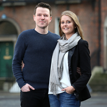 Andrew Caufield and Aoife Manahan. Photo: Frank McGrath