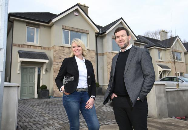 Developers,Emer and Brian Bourke, pictured at Hawthorn Gate development on the Maynooth road in Celbridge