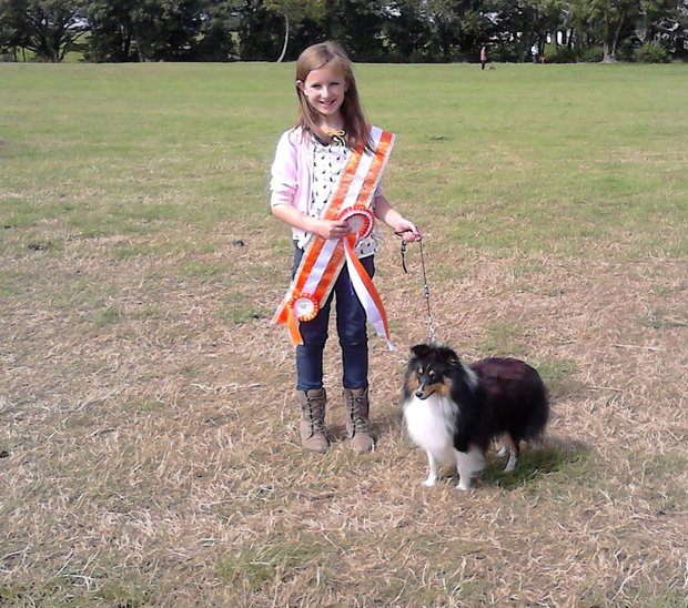 Orna Mahony with one of her prize-winning Shetland sheepdogs, Luke