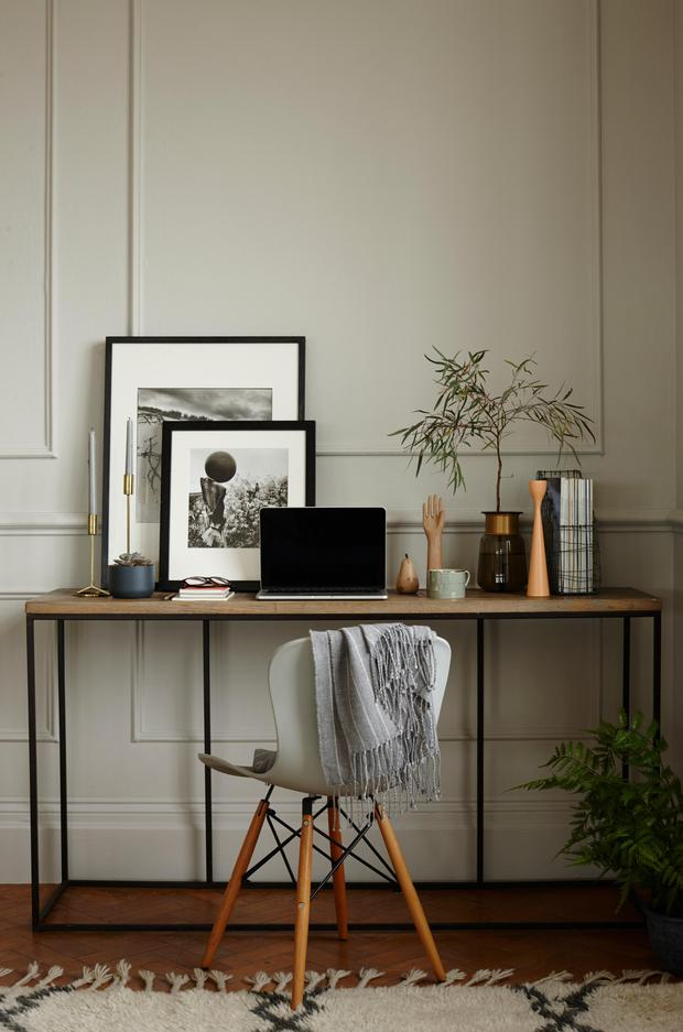 An inviting work nook in the 'Happy Home' set