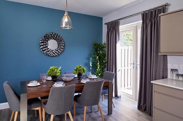Double doors maximise the potential light and garden views.