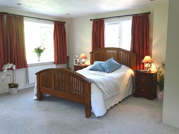 One of the three spacious double bedrooms
