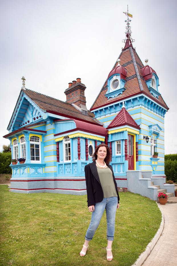 Ann-Marie Carty, of Arcadia Architects, outside the Doll's House at Rathaspeck Manor, Co Wexford. Photo: Tony Gavin