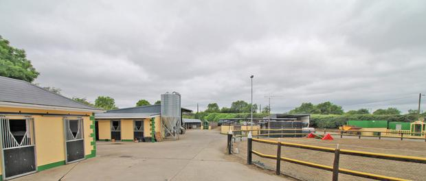 The property includes 44 stables and an equine spa