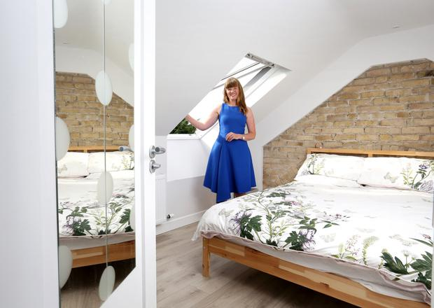 Mairead Corr in the guest bedroom at her home in Ranelagh