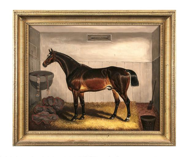 Equine equity: Bay horse paintings by 19th-century animal artist Sam Spode, on sale via Adam's on October 10 (set of two)
