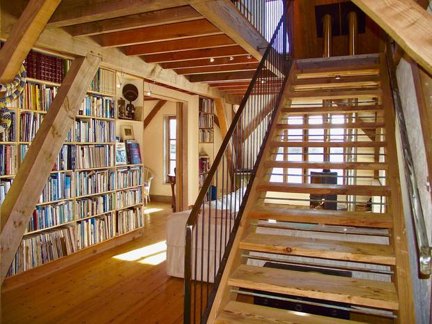The main house has a fine library