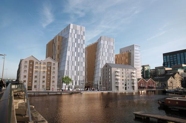 An artist's impression of the €170m Boland's Quay scheme