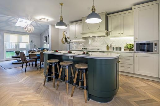 The kitchens at Bellingsfield are bespoke, fitted with quartz worktops and appliances