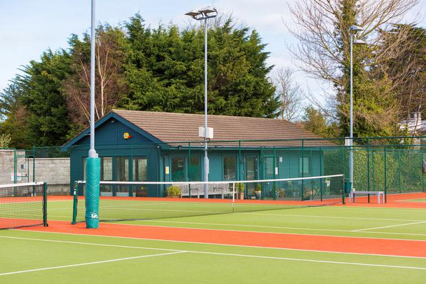 Blackrock Tennis and Bowling Club is right behind the back wall