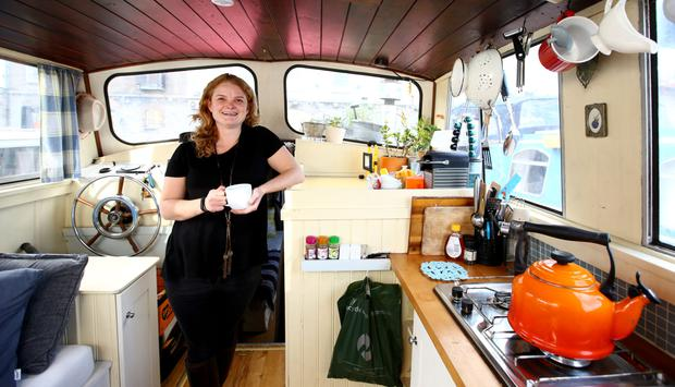 Megan has to make do with a small gas hob and oven on her boat. Photo: Gerry Mooney