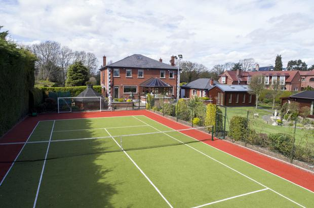 The property's very own tennis courts
