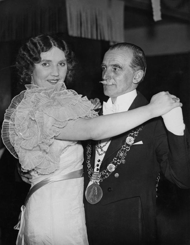 The late Lord Mayor of Dublin Alfie Byrne pictured at a function in 1939