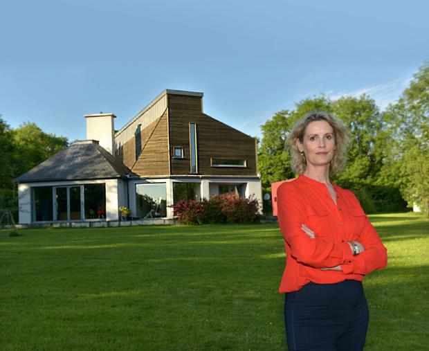 Helen outside her rural Co Kilkenny home. Photo: Bryan Meade