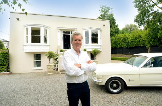 Derek Behan at his home 'Ivy Lodge' Glenageary Road Lower, Co. Dublin. Picture: Caroline Quinn