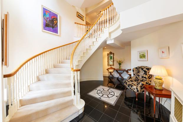 The winding staircase and hallway