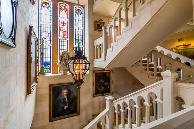 Magnificent cut stone staircase