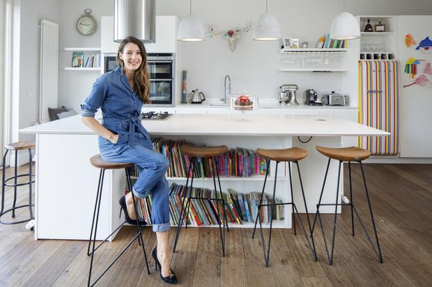 Accountant/stylist Kerry in her stylish kitchen. The units are from Robert Mooney Kitchens in Wicklow. Photo: Tony Gavin