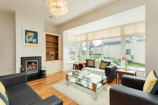 The open-plan living and dining room