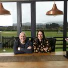 Eimear Lynott and Niall Quinn at their Enniskerry, Co Wicklow bungalow, which they have just sold. Photo: Bryan Meade