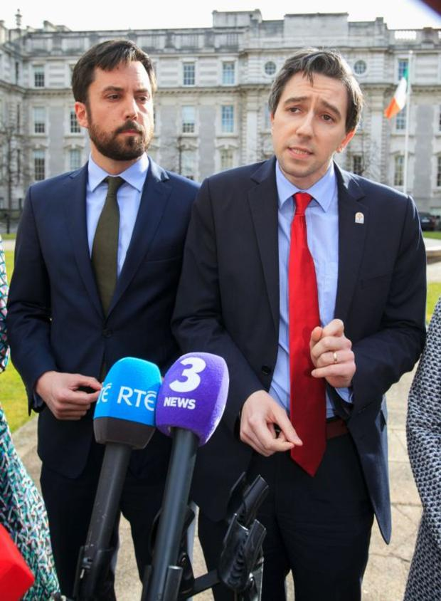 Put-upon pair: Housing Minister Eoghan Murphy and Health Minister Simon Harris