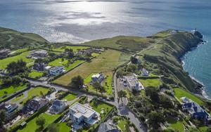 Clifftop luxury: Tthe view from the property. Photo: Gareth Byrne