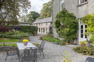 The courtyard would be ideal for a summer party or barbecue