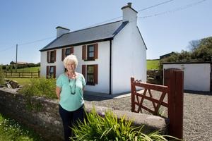 Actor Eilish O'Carroll outside her cottage in Castletownshend, Co Cork