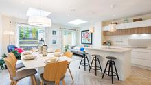 The Raleigh kitchen and dining area at Churchlands, Delgany, Co Wicklow