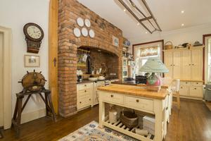 The kitchen featuring an Aga