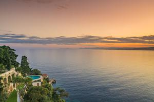 Sunset views from the €30m property