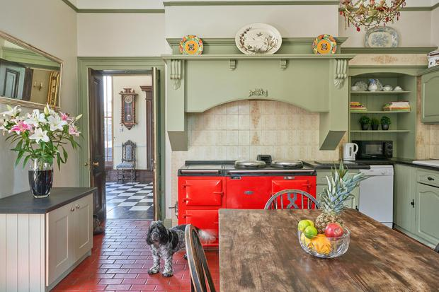 The French-style traditional kitchen