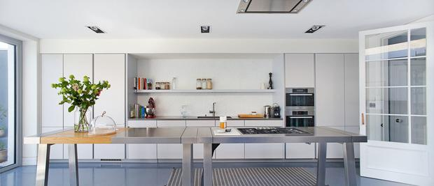 Things to consider with wall-hung units are whether to add an island and the use of corner units