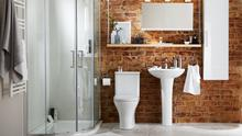 Wall-mounted storage and hanging shelves free up floor space and are quick and easy to install; Cooke & Lewis's range at B&Q, diy.com