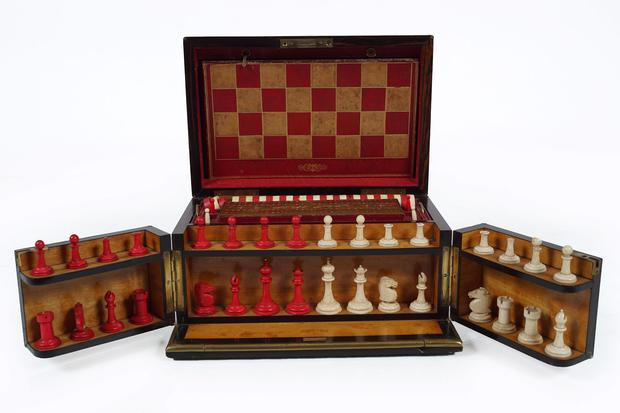 Regency rosewood game collection