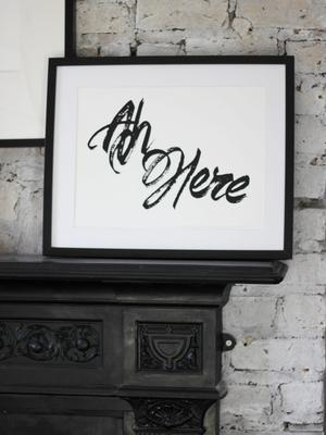 'Ah Here' print by April & The Bear