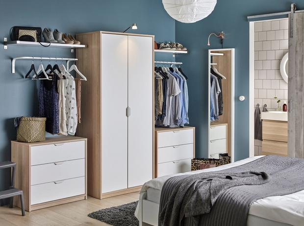 His and hers clothes storage from Ikea
