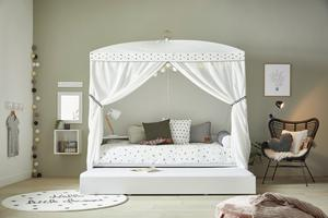 Lifetime Dotty four poster bed by Cuckooland
