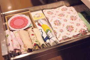 Konmari: When arranging clothing in drawers, use empty shoe or cereal boxes to create smaller dividers